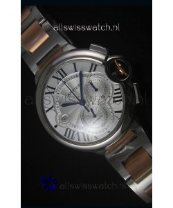 Ballon De Cartier Chronograph in Rose Gold Two Tone Case - 1:1 Mirror Replica