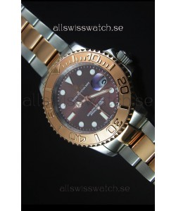 Rolex Yachtmaster Rose Gold Two Tone Grey Dial 1:1 Swiss Replica Watch
