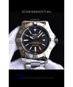 Breitling Avenger II Steel GMT Swiss Replica Watch 1:1 Ultimate Swiss Replica Watch