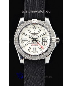 Breitling Avenger II Steel GMT Swiss Watch 1:1 Ultimate Edition - White Dial