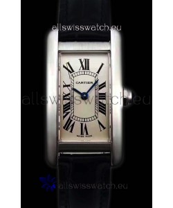 Cartier Tank Americaine Ladies Swiss Quartz Watch 1:1 Mirror Replica