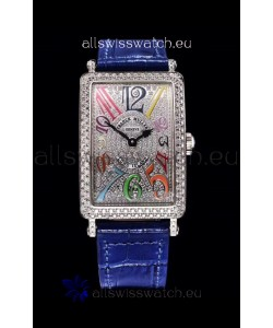 Franck Muller Long Island Color Dreams Ladies Swiss Watch in Blue Strap