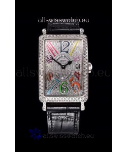 Franck Muller Long Island Color Dreams Ladies Swiss Watch in Black Strap