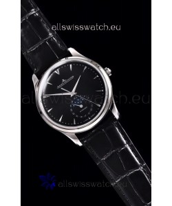 Jaeger LeCoultre Master Ultra Thin Moon Stainless Steel 1:1 Mirror Replica Watch