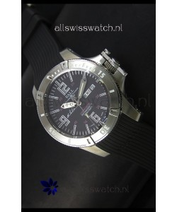 Ball Hydrocarbon Spacemaster Automatic Day Date Rubber Strap in Black Dial - Original Citizen Movement