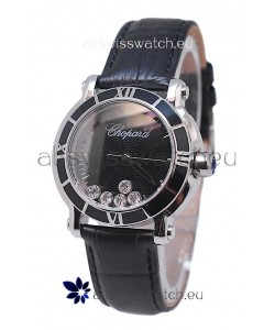 Chopard Happy Sport Star Shaped Diamonds Swiss Watch in Black Dial
