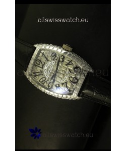 Franck Muller Casablanca Iron Croco Watch in Steel Case