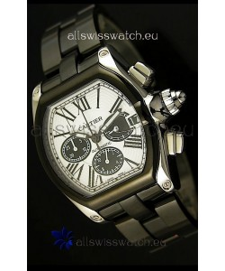 Cartier Roadster Chronograph XL Original DLC Coated 1:1 Mirror Replica Watch