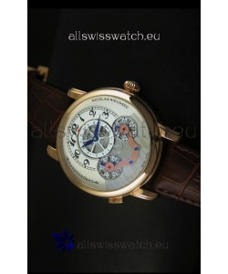 Mont Blanc Nicolas Riessec Rose Gold Case in White Dial