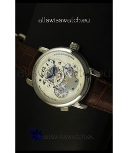 Mont Blanc Nicolas Riessec Stainless Steel Case in White Dial