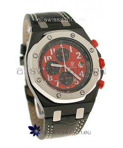 Audemars Piguet Royal Oak Offshore Limited Edition SingaporeGP 2008 Japanese PVD Watch in Red Dial