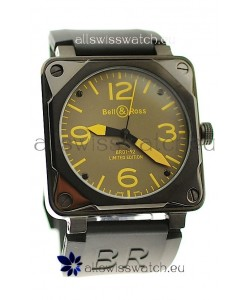 Bell and Ross BR01-92 Limited Edition Japanese PVD Watch in Yellow Markers