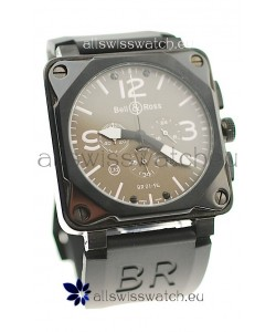 Bell and Ross BR01-94 Edition Japanese PVD Watch in Grey Dial