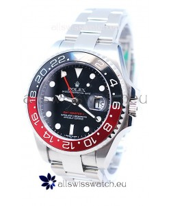 Rolex GMT Masters II 2011 Edition Replica Black and Red Ceramic Bezel Watch
