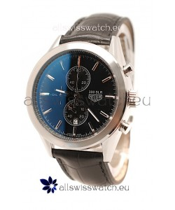 Tag Heuer Carrera Cal. 1887 Chronograph Japanese Watch in Black Strap