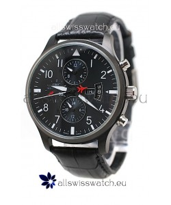 IWC Pilot Spitfire Automatic Japanese PVD Watch in Black