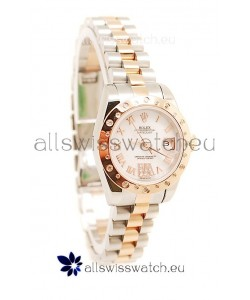 Rolex DateJust - Two Tone Lady Swiss Replica Pink Gold Watch