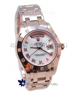 Rolex Day Date White Mother of Pearl Japanese Replica Watch