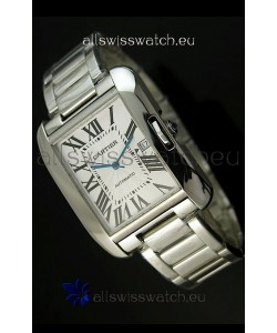 Cartier Tank Swiss Replica Watch in Stainless Steel Case