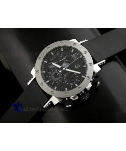 Jacob and Co EPIC II Swiss Watch in Black Carbon Dial