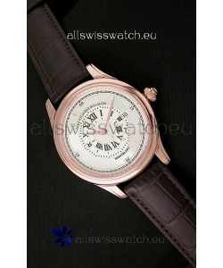 Montblanc Pure Mechanique Horlogere Swiss Replica Rose Gold Watch in Mop White Dial