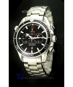 Omega Seamaster Chronometer Japanese Replica Watch in Black Dial