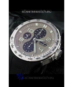 Porsche Design Flat Six P'6340 Swiss Chronograph Watch in Grey Dial