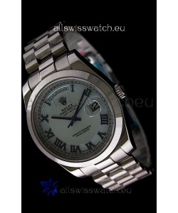 Rolex Oyster Perpetual Day Date II Japanese Replica Watch in Light Blue Dial