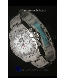 Rolex Daytona Japanese Replica Watch in White Dial