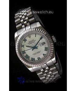 Rolex Datejust Mens Japanese Replica Watch in White Dial
