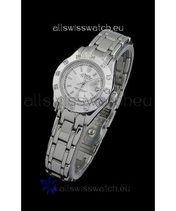 Rolex Datejust Ladies Swiss Replica Ladies Watch in Silver White Dial
