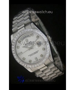 Rolex Day Date Just JapaneseReplica Watch in White Dial