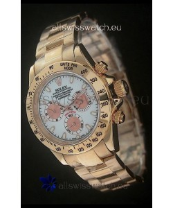 Rolex Daytona Japanese Replica Gold Watch in Rose Gold Subdials