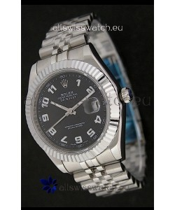 Rolex DateJust Japanese Replica Watch in White Arabic Hour Markers