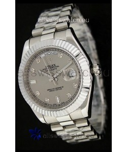 Rolex Oyster Perpetual Day Date Swiss Replica Watch in Grey Dial