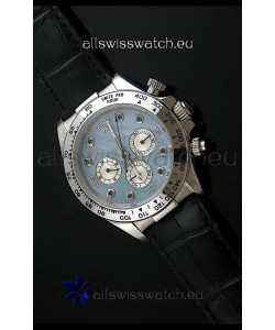 Rolex Daytona Japanese Replica Steel Watch in Light Blue Dial