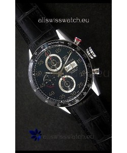 Tag Heuer Carrera Tachymeter Swiss Chronograph Watch in Black