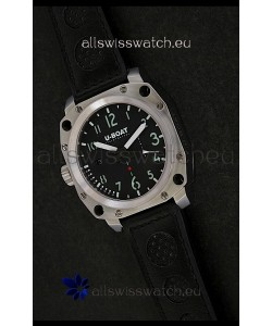 U-Boat Thousands of Feet Steel Watch in Black Dial