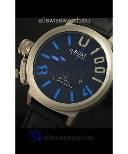 U Boat U-1001 Edition Japanese Drive Automatic Steel Watch in Blue Markers