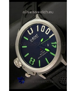 U Boat U-1001 Edition Japanese Drive Automatic Steel Watch in Green Markers