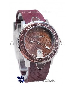 Ulysse Nardin Lady Diver Starry Night Replica Watch in Brown Dial